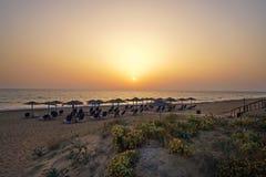 Imagen de la naturaleza salvaje de la playa de la playa de Chalikounas imagenes de archivo