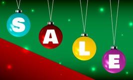 Imagen de la Navidad con las bolas del brillo y con  Foto de archivo libre de regalías