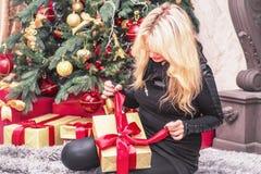 Imagen de la Navidad Fondo de la Navidad de las decoraciones del Año Nuevo Imagen de la Navidad Fondo de la Navidad de las decora foto de archivo
