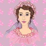Imagen de la novia hermosa Imagenes de archivo