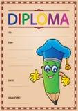 Imagen 9 de la plantilla del diploma Fotografía de archivo libre de regalías