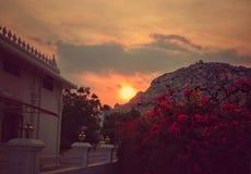 Imagen de la puesta del sol fotografía de archivo