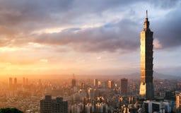 Imagen de la señal de Taipei 101 que construye, Taipei, Taiwán fotos de archivo libres de regalías