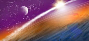 imagen de la tierra del planeta en espacio Fotografía de archivo