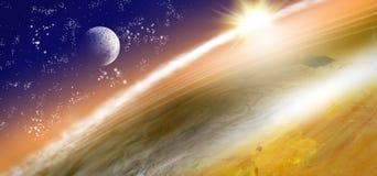 imagen de la tierra del planeta en espacio Imágenes de archivo libres de regalías