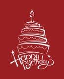 Imagen de la torta de cumpleaños Imagenes de archivo