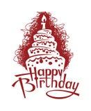Imagen de la torta de cumpleaños Foto de archivo