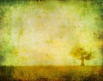 Imagen de la vendimia de un árbol ilustración del vector