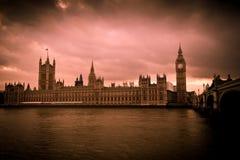 Imagen de la vendimia del Ben grande en Londres imagenes de archivo