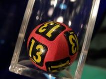 Imagen de las bolas de la lotería durante la extracción Imágenes de archivo libres de regalías