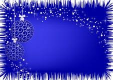Imagen de las bolas del azul de la Navidad Fotos de archivo