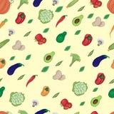 Imagen de las diversas verduras y de los verdes en un fondo beige, verduras multicoloras brillantes libre illustration