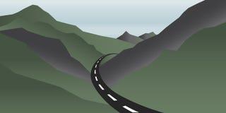Imagen de las montañas y del camino del valle libre illustration