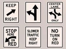 Imagen de las señales de tráfico 3D Foto de archivo