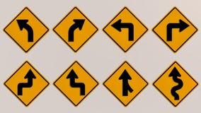 Imagen de las señales de tráfico 3D Imágenes de archivo libres de regalías