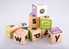 Imagen de los bloques del alfabeto fotografía de archivo libre de regalías