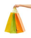 Imagen de los bolsos de compras coloreados multi Imágenes de archivo libres de regalías