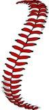 Imagen de los cordones del béisbol o de los cordones del beísbol con pelota blanda Imagen de archivo libre de regalías