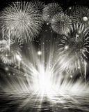 Imagen de los fuegos artificiales Fotografía de archivo