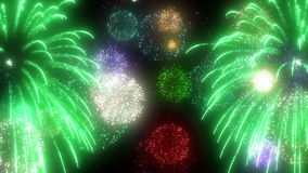 Imagen de los fuegos artificiales almacen de metraje de vídeo