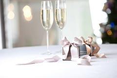 Imagen de los regalos de lujo del Año Nuevo Fotos de archivo
