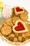 Imagen de muchas galletas foto de archivo