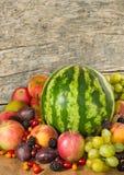 imagen de mucho primer de las frutas Imagen de archivo