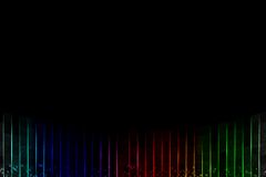 Imagen de neón del arco iris en un fondo negro Foto de archivo libre de regalías