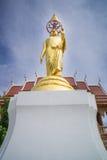 Imagen de oro de Buda en el templo, Tailandia Imagen de archivo libre de regalías