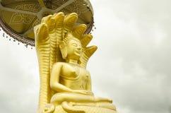 Imagen de oro hermosa de Bhudda con las cubiertas Fotos de archivo
