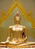 Imagen de oro tailandesa de Buda Imagen de archivo libre de regalías
