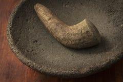 Imagen de piedra de pulido tradicional del primer de Java Indonesia del oeste Imagenes de archivo