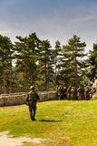 Imagen de soldados en la acción Fotografía de archivo libre de regalías