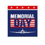 Imagen de tarjeta de Memorial Day Fotografía de archivo libre de regalías
