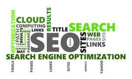 Imagen de tono medio de SEO Wordcloud stock de ilustración