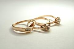 Imagen de tres anillos femeninos hermosos Imagen de archivo libre de regalías