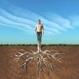 Imagen de un hombre que ha tomado la raíz libre illustration