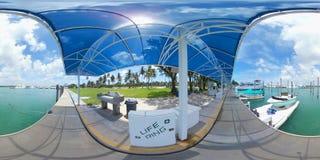 imagen 360 de un puerto deportivo del barco Imagen de archivo libre de regalías