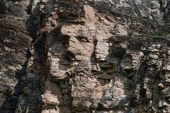 Imagen de un rostro humano forjado por naturaleza en una piedra Barranco de Sulak, Daguest?n imagen de archivo libre de regalías