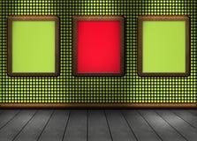 imagen de un verde rojo del piso agradable para su sombra ligera contenta Foto de archivo