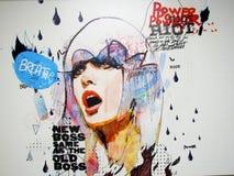 Imagen de una muchacha cansada de violencia en las calles libre illustration
