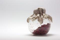 Imagen de una pequeña coctelera de la pimienta en un fondo blanco Fotografía de archivo libre de regalías