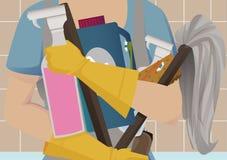 El Spring cleaning Imagen de archivo