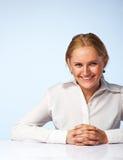 Imagen de una sonrisa feliz de la mujer de negocios Imagenes de archivo
