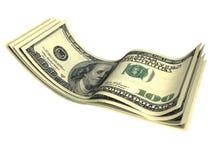 Imagen de varios billetes de banco de los dólares Fotos de archivo