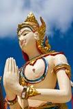 Imagen del ángel en arte tailandés del moldeado del estilo Imagen de archivo