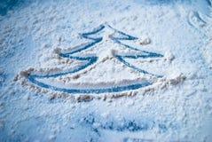 Imagen del árbol de navidad en la tabla Fotos de archivo