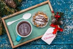 Imagen del Año Nuevo del té, torta en la tabla Fotos de archivo