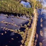 imagen del abejón Vista aérea de la zona rural Fotos de archivo