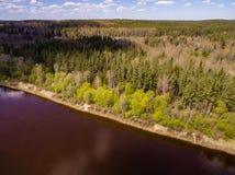 imagen del abejón Vista aérea de la zona rural Fotografía de archivo libre de regalías